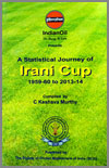 A statistical journey of Irani Cup 1959-60 to 2013-14